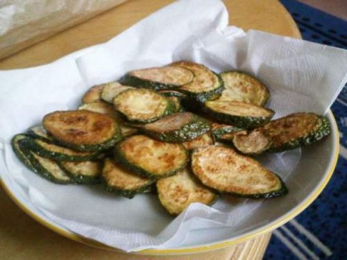 Chips courgette au curry !!!