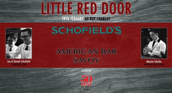 Schofield's x American Bar Savoy au Little Red Door