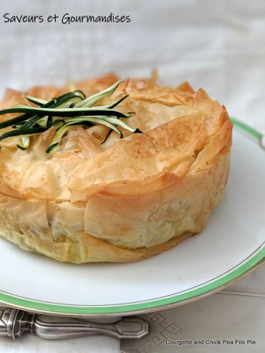 Tourte Filo Courgettes et Pois Chiche de Nigella. Courgette and Chick Pea Filo Pie