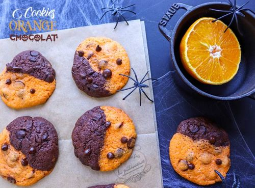 Cookies orange chocolat d'Halloween !