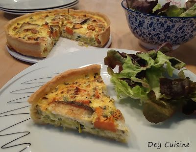 Quiche poireau & patate douce
