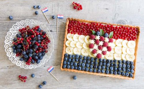 Tarte aux fruits - drapeau croate