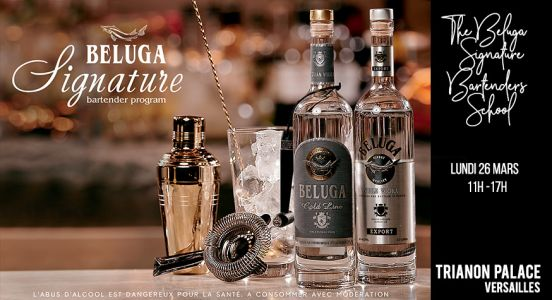 Beluga Signature 2018:  The Beluga Signature Bartender School au Trianon Place Versailles
