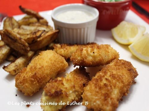 Filets de poisson panés
