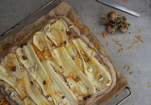 Pizza panais-noisette-orange