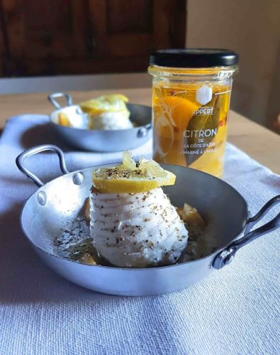 Happy Summer:  ricotta di buffala au four, citron frais et citron confit de Monsieur Appert