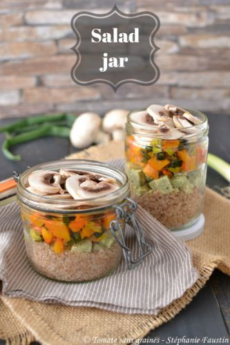 Salad jar {tofu, sarrasin, butternut}