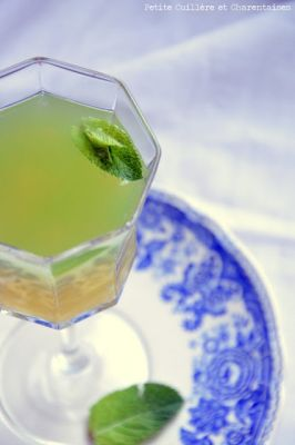Cocktail sans alcool Menthe, Camomille et Orange