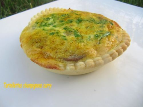 Grandes tartelettes champignons curry