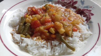 Curry de légumes vegan à l'Instant Pot