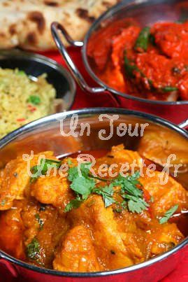 Poulet au curry Indien