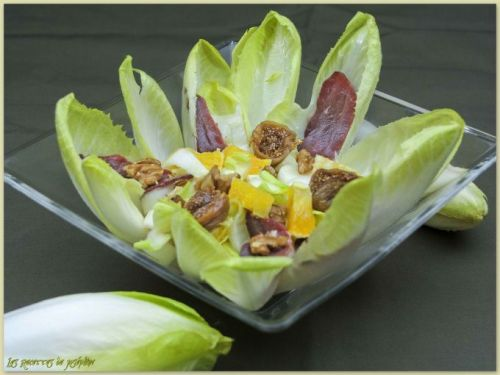 Salade d'endives, vinaigrette à l'orange