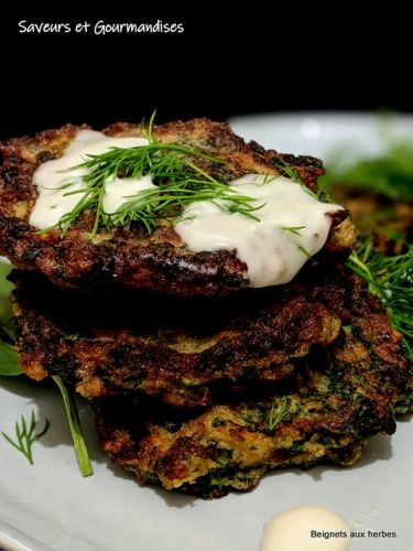 Beignets iraniens aux herbes. Iranian herb fritters