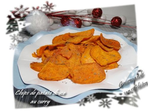 Chips de patates douces au curry