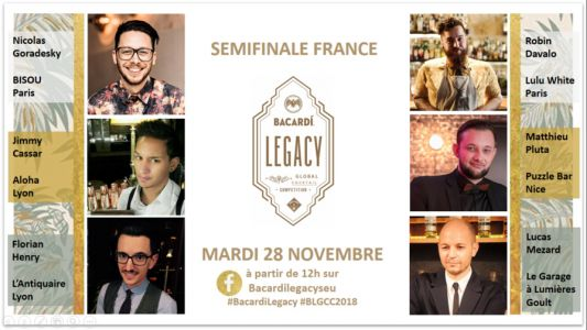 Bacardi Legacy Cocktail Competition 2018:  les Finalistes France