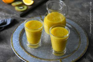 Smoothie orange kiwi, recette facile