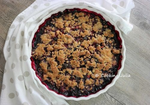 CRUMBLE DE FRUITS ROUGES AU MUESLI
