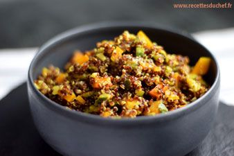 Quinoa rouge au curry