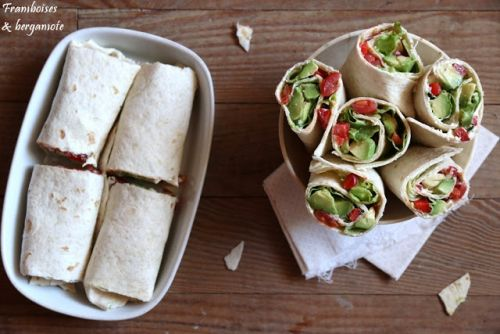 Wraps verts et rouges
