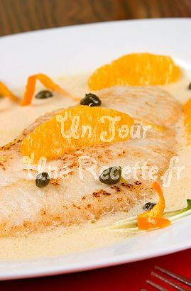 Poisson blanc sauce à l'orange